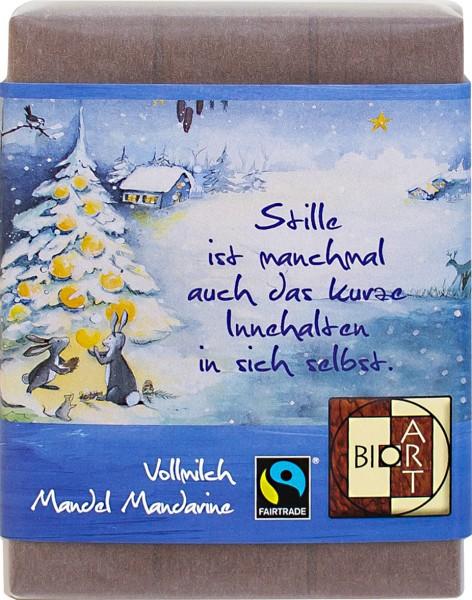 BioArt Schoko Weihnachten Baum Vollmilch Mandel Mandarine 70g