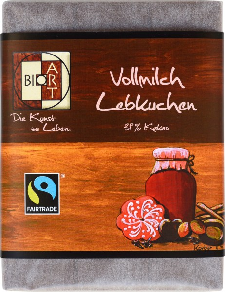 BioArt Schoko Vollmilch Lebkuchen 70g